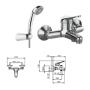 Смеситель Tiemme GAMMA G03SA для ванны, без душевого набора, ручка хром (411510107)
