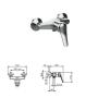 Смеситель Tiemme GAMMA G04 для ванны, без душевого набора, ручка хром (411510301)
