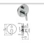 Смеситель Tiemme GAMMA G05 для ванны \ душа, с переключателем на 2 выхода, ручка хром (411510401)