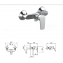 Смеситель Tiemme LIKE L04 для ванны, без душевого набора, ручка хром (411480301)
