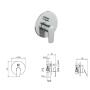 Смеситель Tiemme LIKE L05 для ванны \ душа, с переключателем на 2 выхода, ручка хром (411480402)