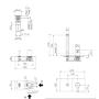 Смеситель Tiemme SKY T031SS настенный для умывальника без донного клапана, ручка хром (411450603)