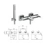 Смеситель Tiemme SKY Q13SA для ванны, без душевого набора, ручка хром (411490103)