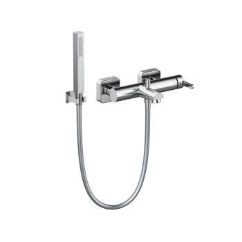 Смеситель Tiemme SKY Q13 для ванны с латунной лейкой и держателем, ручка хром (411490105)