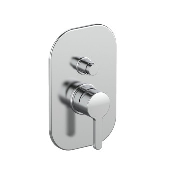 Смеситель Tiemme SKY Q15 для ванны \ душа, с переключателем на 2 выхода, ручка хром (411490404)