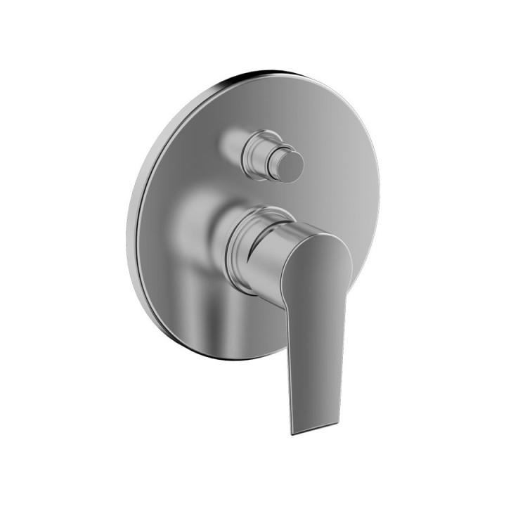 Смеситель Tiemme TEN TN05 для ванны \ душа, с переключателем на 2 выхода, ручка хром (411800401)