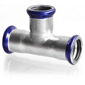 Тройник EUROTUBI 22 нержавеющая сталь (S40AE-LBP)