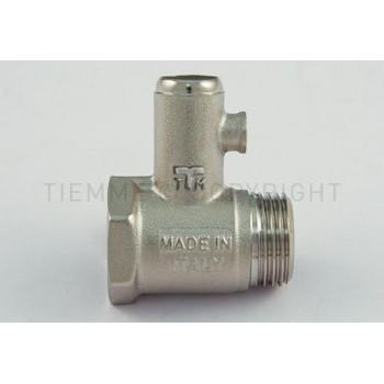 """Предохранительные клапаны для водонагревателя  Tiemme резьба внешняя / внутренняя 1/2"""" 8,5 БАР ( 1930002 )"""