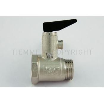 """Предохранительные клапаны для водонагревателя с рычагом Tiemme резьба внешняя / внутренняя 1/2"""" 8,5 БАР ( 1930001)"""