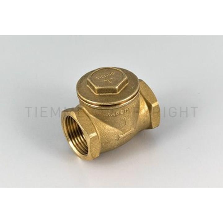 """Клапан Tiemme clapet FULL, 1"""" резьба внутренняя/внутренняя ISO228 с латунным затвором с уплотнительными прокладками  ( 3500009 )"""